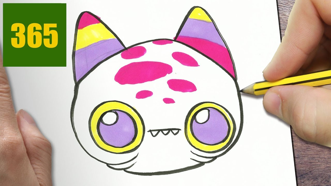 Comment dessiner monstre kawaii tape par tape dessins kawaii facile youtube - Tete de monstre a dessiner ...