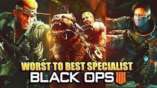 Ranking THE WORST TO BEST SPECIALIST IN BLACK OPS 4 - (Best Specialist BO4)