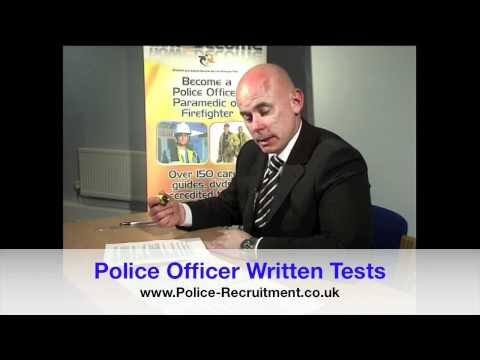 how to prepare for police written test