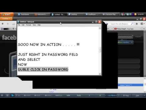 See Password behind black dots - YouTube