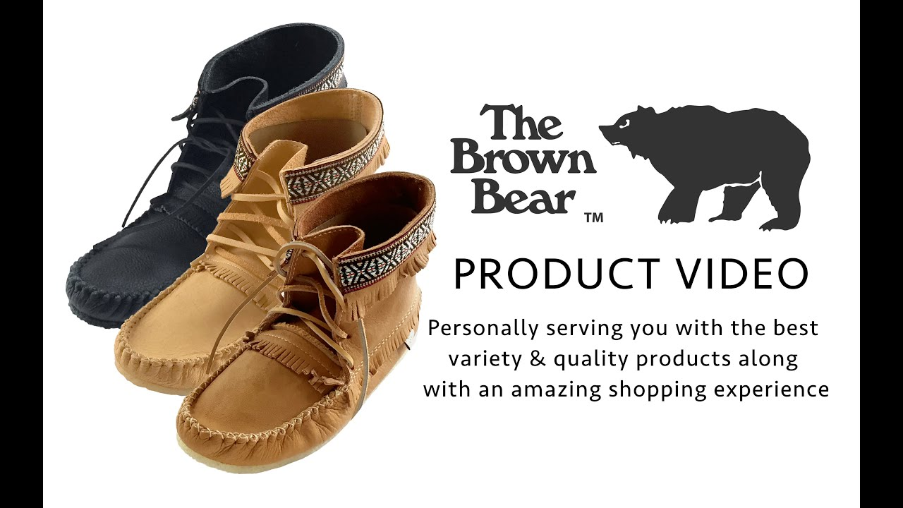 02b58cdb9 Men's Cork Brown Ankle Moccasin Boots Handmade from Real Moose Hide –  Leather-Moccasins