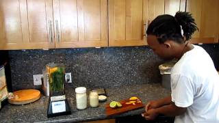 Day #10.0, New Year Juice Feast/cleanse - Mango Pina Colada