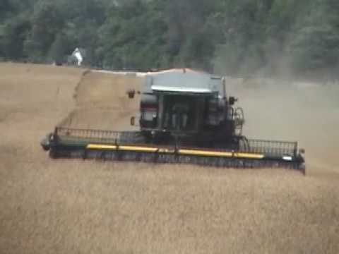 Gladiator Wheat Harvest 2010 And Kinze Twin Row Planter Youtube