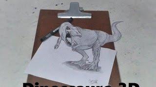 Dinossauro 3D - Desenho realista