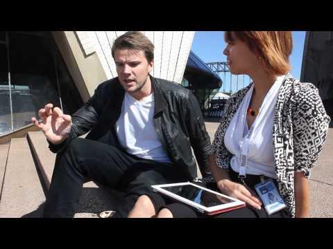 Caroline interviews Bjarke Ingels on Sydney Opera House...literally.