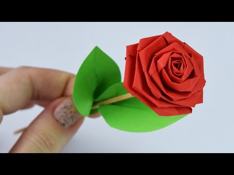 How to make rose with paper easy method