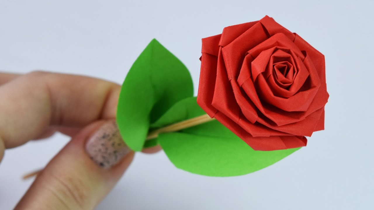 How To Make Paper Rose Diy Youtube