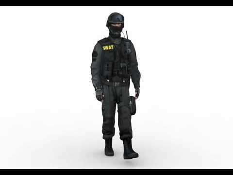 SWAT tactical unit 3d model by Rocketbox Libraries #m158 walk