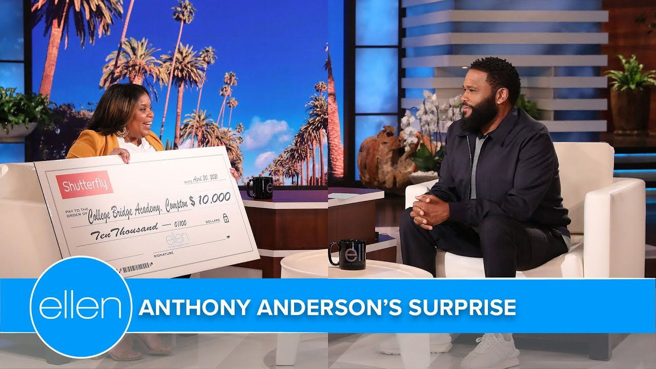 Anthony Anderson Rewards Principal from His Hometown of Compton