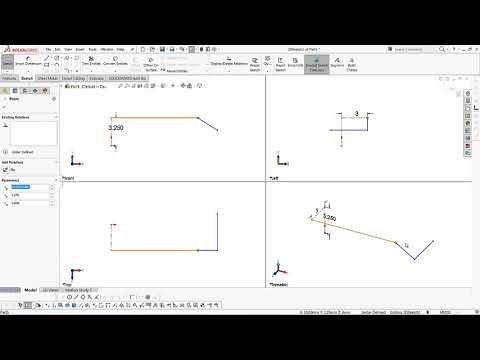 SOLIDWORKS - 3D Sketching for Sweeps and Lofts