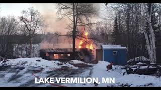 Fire Destroys Home On Lake Vermilion
