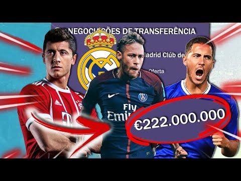 DESAFIO: CONTRATANDO JOGADORES DOS SONHOS (Real Madrid CF) 🍃 | FIFA 18 EXPERIMENTOS