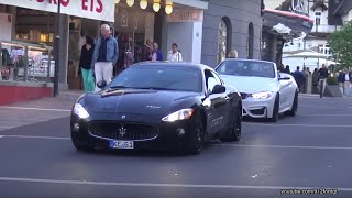 BMW M4 Convertible & Maserati Gran Turismo Showing Off! AWESOME SOUNDS!