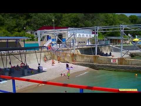 Лечебный пляж Санатория Белоруссия. Крым, Ялта, курорт Мисхор. Часть 2 Yalta resort.