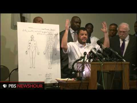Autopsy indicates Michael Brown shot at least six times, showed no