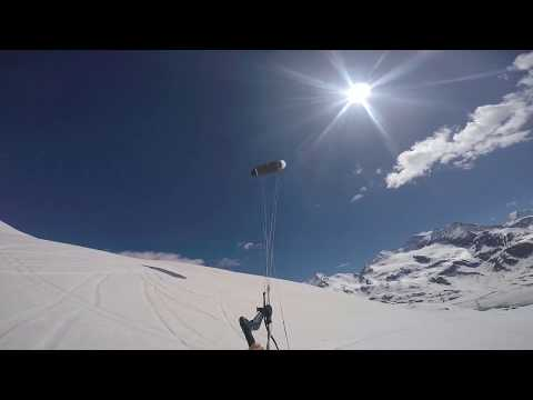 Snowkiting In June With The New #hyperlinkV2 & #exploreV1 From #ozonekites