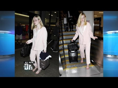 Star Walks Barefoot in the Airport?