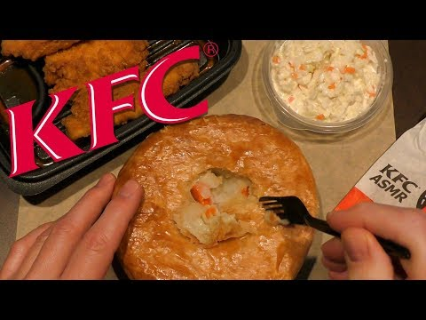 ASMR: Eating KFC Chicken Pot Pie & Georgia Gold Chicken Tenders