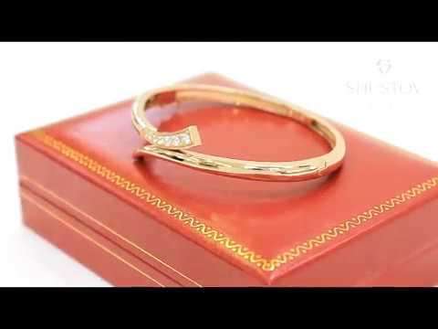 Жесткий браслет из красного золота 585 пробы