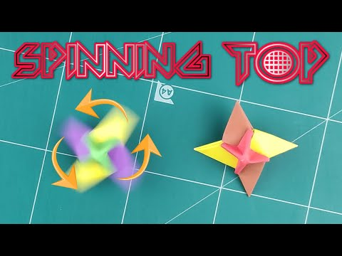 How to Make A Flying Three Blade Fan - Origami Easy Wind Turbine 3 Blades Paper Folding Tutorials