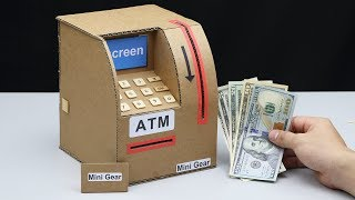 Wow! Amazing Diy Atm Machine From Cardboard