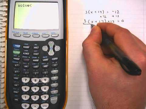 Solving Equations On Ti