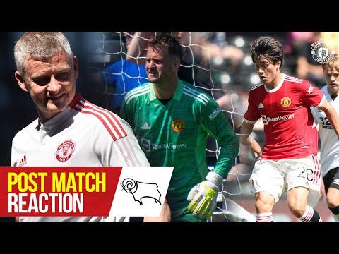 Heaton, Pellistri & Solskjaer pleased with pre-season win at Derby | Derby 1-2 Manchester United