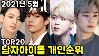 2021년 5월 보이그룹 개인 브랜드평판 TOP20 (남자아이돌 개인 인기순위) May Boy Group P…