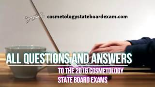 2016 Cosmetology State Board Exam