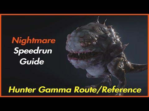 Hunter Gamma Nightmare Route/Reference - Resident Evil 3 Remake Speedrun Guide
