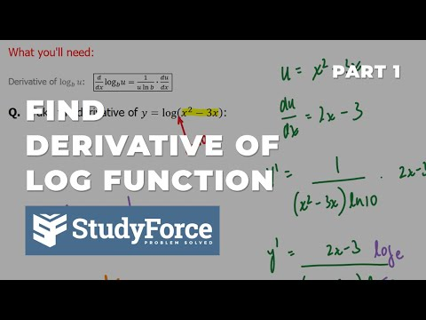 📚 How to find the derivative of logarithmic functions (Part 1)