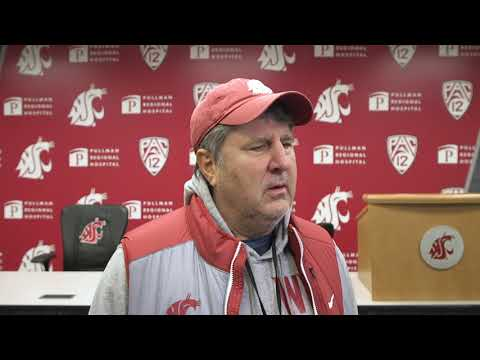 WSU Football: Mike Leach After Practice 12/17/19