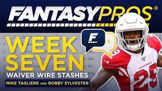 Live: Week 7 Waiver Wire Stashes (2019 Fantasy Football)