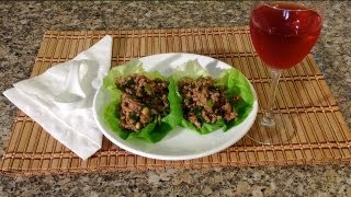 Asian Lettuce Wraps-how To Make Chicken Turkey Lettuce Wraps-american Comfort Food