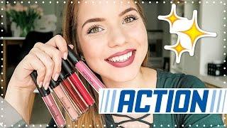 €1 ACTION MATTE LIPSTICK TEST! 💄 | Kristina K ❤