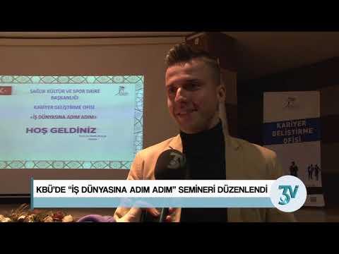 """KBÜ'DE """"İŞ DÜNYASINA ADIM ADIM"""" SEMİNERİ DÜZENLENDİ"""