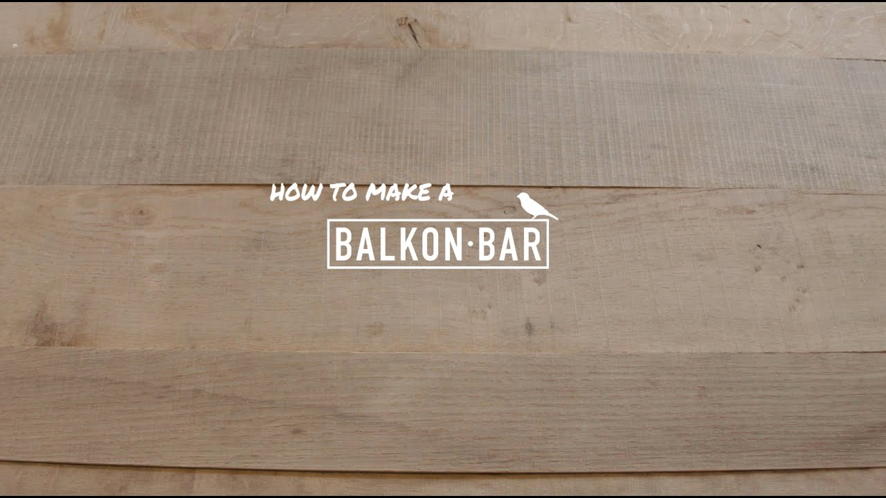 How to make a BALKONBAR: the flat version - YouTube