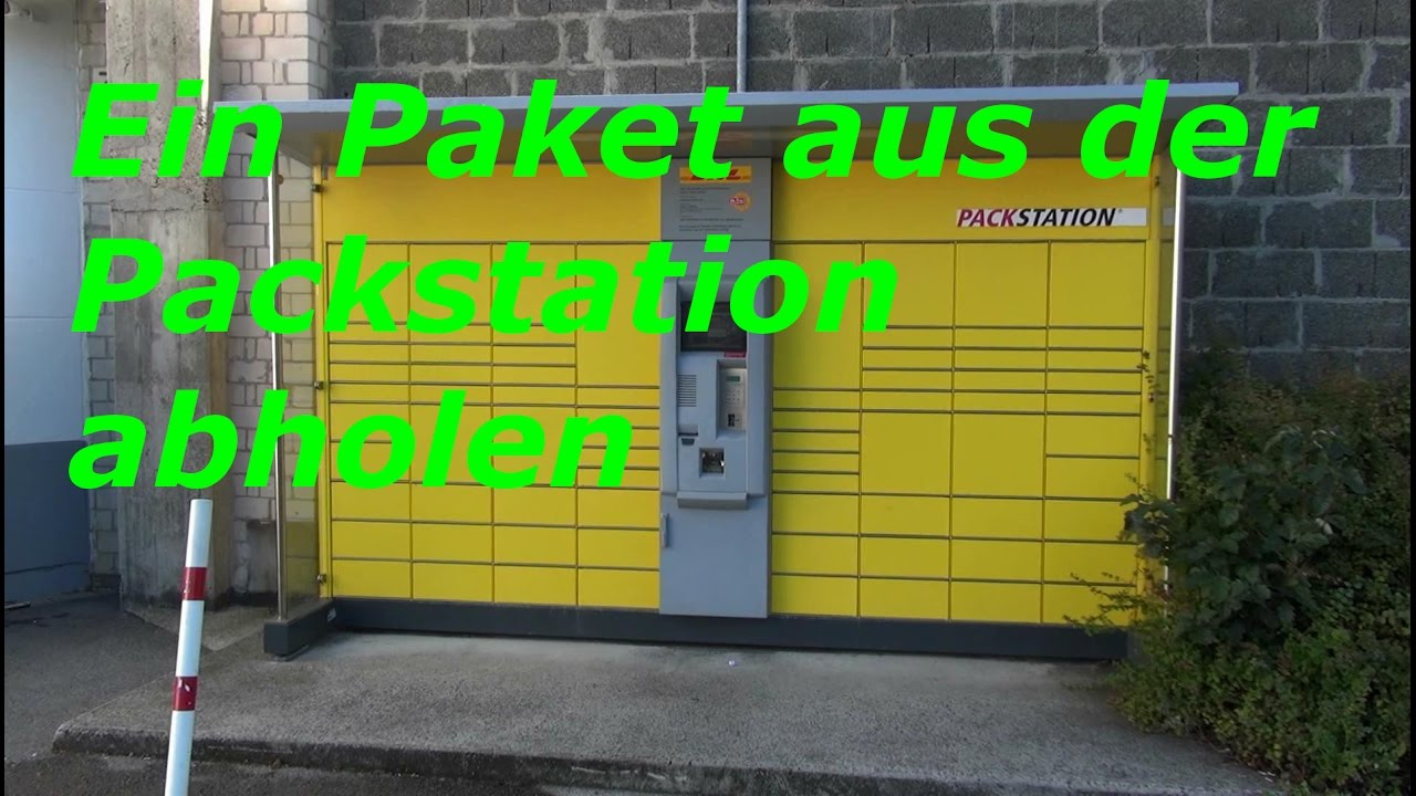 ein paket aus der dhl packstation abholen youtube. Black Bedroom Furniture Sets. Home Design Ideas