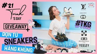 Ngọc Trinh - My Day #20   Dọn Tủ Giày Sneaker Siêu To Khổng Lồ + Giveaway Lì Xì Fan Cứng