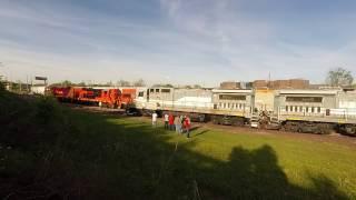 B39-8E Locomotive Pair Moving in the HMCR Yard