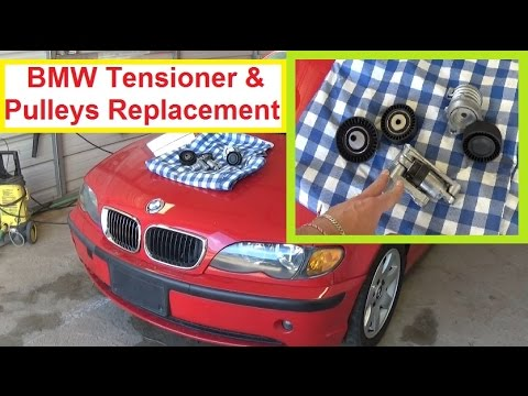 diagram of tensioner pulley bmw e46 e39 belt tensioner and pulley removal and #6