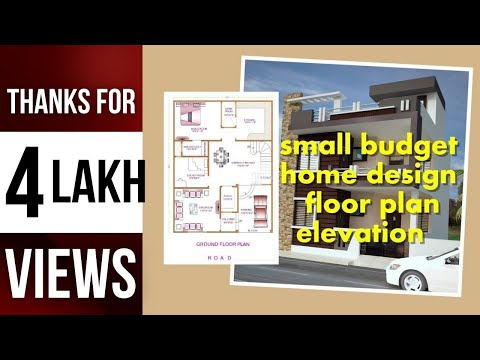 small budget home design 1200 sq ft | 30.40 | floor plan | elevation | Indian small home Sep 2017