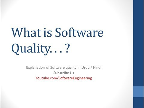 define software quality in software engineering Urdu - Hindi