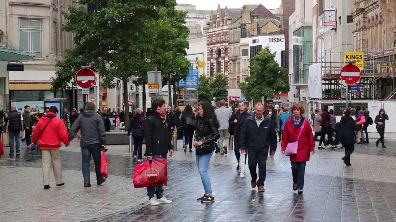 England Liverpool City center / Angleterre Liverpool Centre ville
