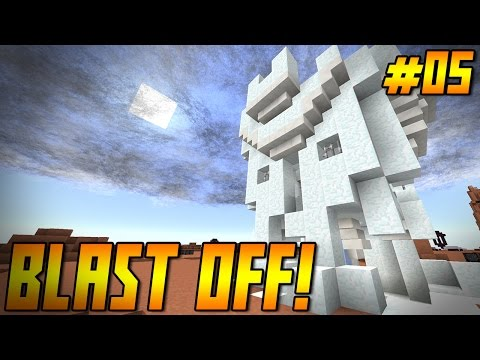 """BLAST OFF! Ep 05 - """"I CAN'T BREATHE!!!"""" (Minecraft HQM Modpack)"""