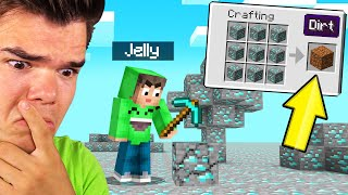 Minecraft But EVERYTHING Is FAKE DIAMOND! (Confusing)