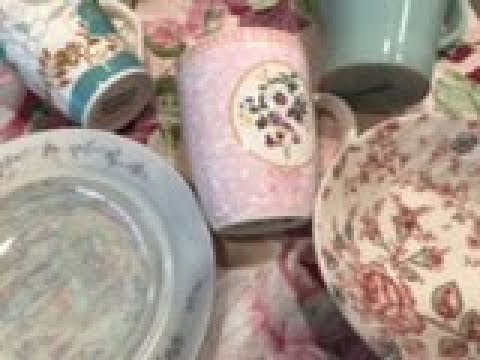 Vlog Mission:  Shabby Chic (Farmhouse) Dishware