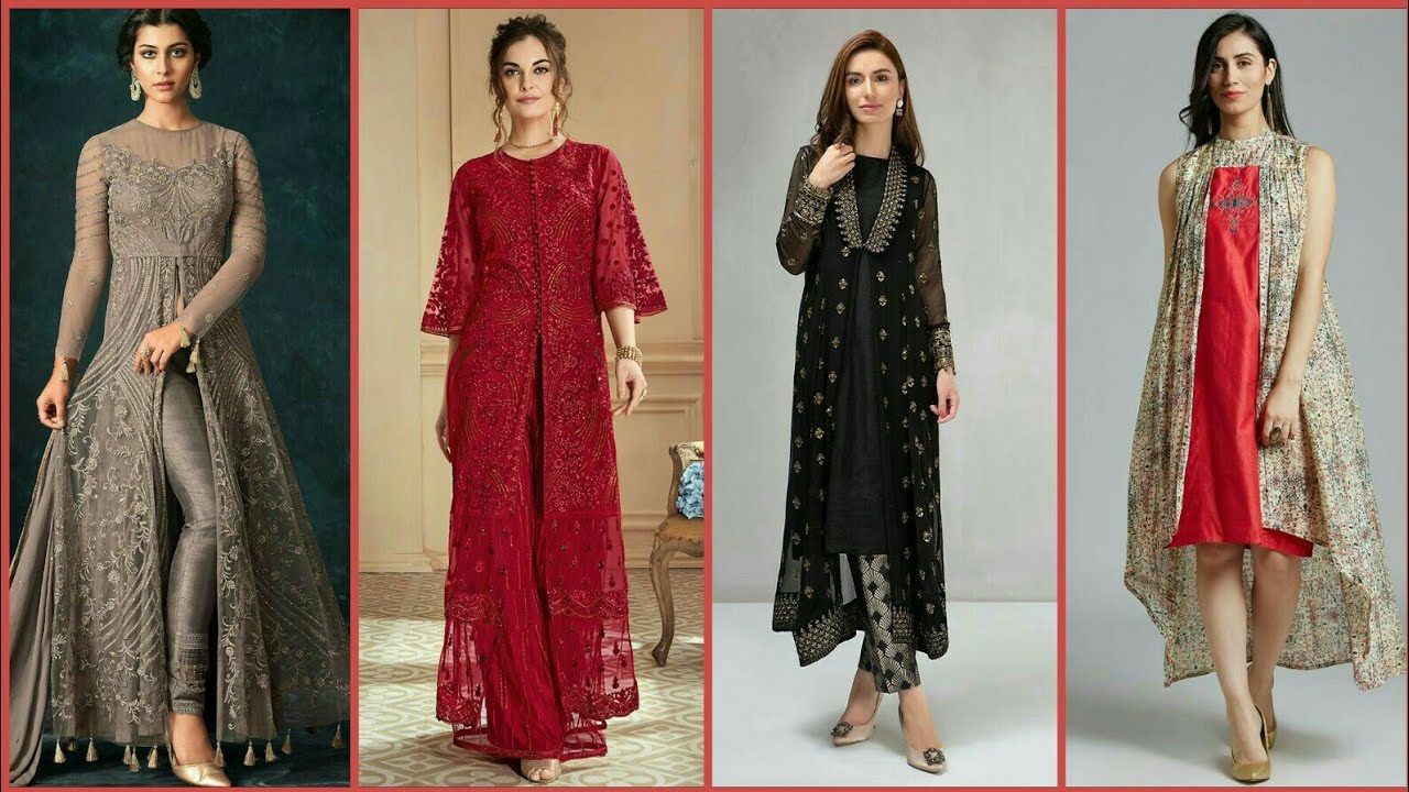 Front Open double shirts dresses Frock Designs 2019-20 ...
