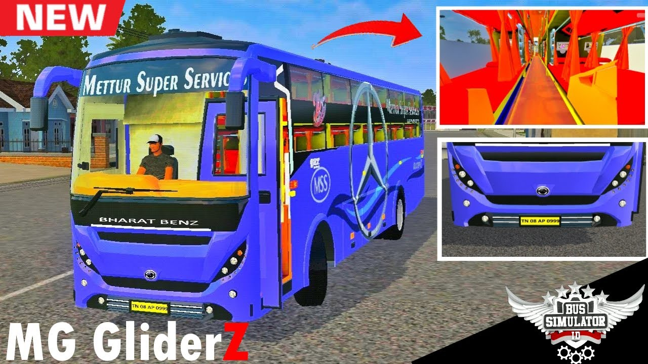 MG Gliderz Sleeper Bus Mod Driving - Download Now - Bus Simulator Indonesia - Android Gameplay