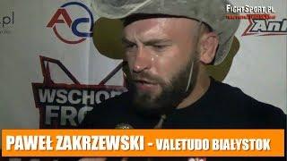 Paweł Zakrzewski po zwycięstwie na gali Wschodni Front 1 - Noc Vikingów